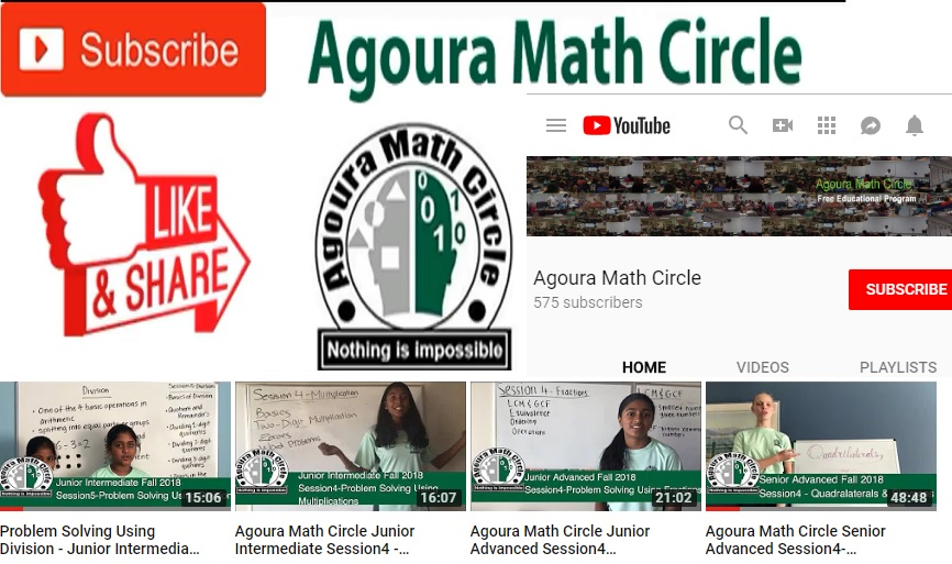 Agoura Math Circle, Nonprofit Community Service Organization